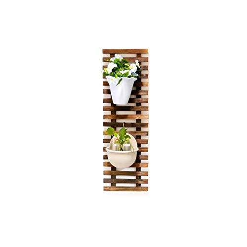 XJZxX Holzzaun Pflanze Blumenständer Pflanze Wand Balkonrahmen Massivholz Hänge Wand Topf Rack Balkon Klettergerüst (Size : 150)