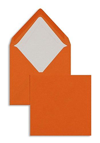Farbige Briefhüllen | Premium | 164 x 164 mm Orange (100 Stück) Nassklebung | Briefhüllen, Kuverts, Couverts, Umschläge mit 2 Jahren Zufriedenheitsgarantie