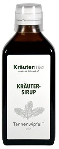 Kräutermax Tannenwipfel Sirup 1 x 200 ml Husten Saft mit Kräuter wie Spitzwegerich und Thymian