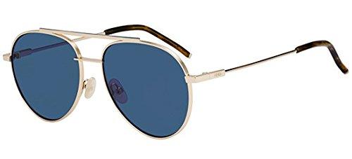 Fendi ff 0222/s ku 000, occhiali da sole uomo, oro (rose gold/bl blue), 56