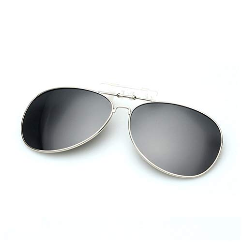 AOCCK Sonnenbrillen,Brillen, Polarized Clip On Sunglass Men Women Clip On Myopia Glasses Mirror UV400 Clip Sun Glasses Night Vision Driving Eyeglasses Black