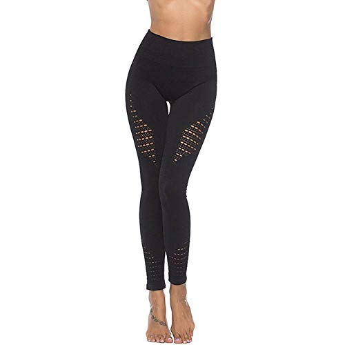 Bornbayb Frauen Hohe Taille Butt Lift Yoga Leggings Aushöhlen Mesh Workout Laufhose Fitness Strumpfhosen | 06917245891611