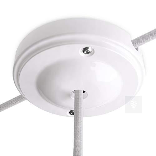 Lampen Baldachin Porzellan New Modern, Weiß Ø 10 cm
