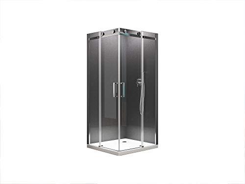 duschtrennwand eckeinstieg Eckeinstieg Duschkabine Schiebetür Dusche Lina 90 x 90 x 195cm / 8mm / ohne Duschtasse