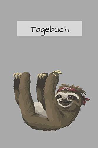 Faultier Tagebuch: mit schönem Faultier Bild | 120 Seiten, dotted | lustiges Geschenk für Faultier Liebhaber | a5+