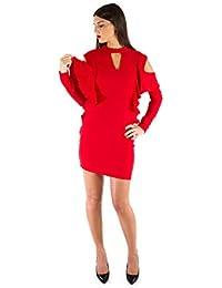 Rosso Abbigliamento Amazon Guess it Donna Vestito TqE4q6