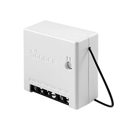 Sonoff Smart WiFi Switch mit Timerfunktion DIY Mini 2-Wege-Lichtschalter APP Fernbedienung und Sprachsteuerung Kompatibel mit Amazon Alexa/Google-Startseite/Nest/IFTTT