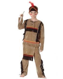 Indian Brave Warrior, Jungen Fancy Dress Kostüm Outfit, klein (Alter: 4–6)