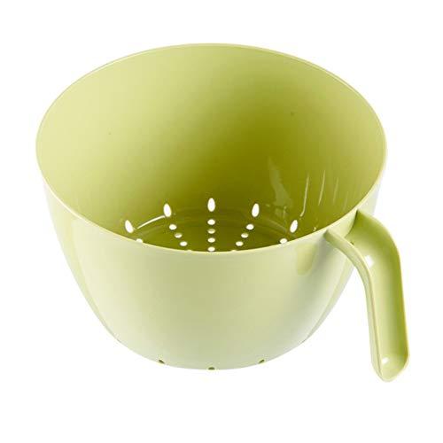 Doppel-weidenkorb (Waschen Gemüse Kunststoff Abflusskorb Waschen kreative Weidenkorb Doppel Obst- und Gemüsekorb-green)