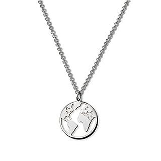 Luamaya Damen Ketten - Edelstahl Halskette in Gold, Silber und Roségold (Anam Silber)