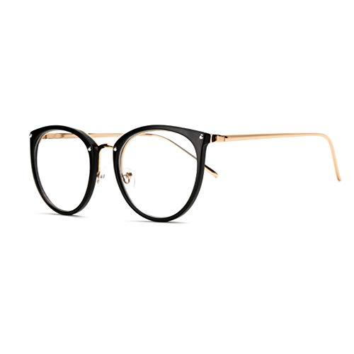 Juqilu Klare Linse Brillen Lesebrille Dekor Mode Geek/Nerd Retro Brillen für Männer Frauen - lu18082301