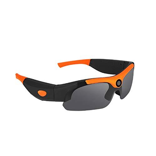 XXBF Kamerabrille,1080P High-Definition-Sport-Videobrille 120 ° Weitwinkel-Fotopolarisationsbrille mit 450 mAh-Akku
