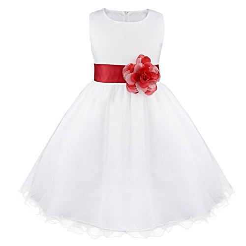 Blumen-Mädchen Kleidung Hochzeit Festlich 92 98 104 110 116 128 140 152 164 Rot 164 ()