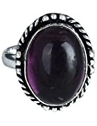Waama Jewels Fashion Accessories Antique Ring Collection Traditional & Ethnic Silver Plated Finger Ring Agate...