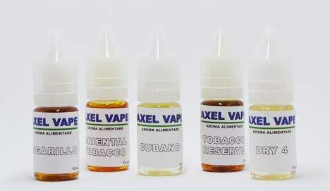 Kit aromi tabaccosi axelvape 10ml x 5 v1