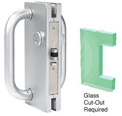 Deadlatch Lock (CRL 4x10 LH / RHR Satin Chrome Finish Center Lock with Deadlatch by C.R. Laurence)