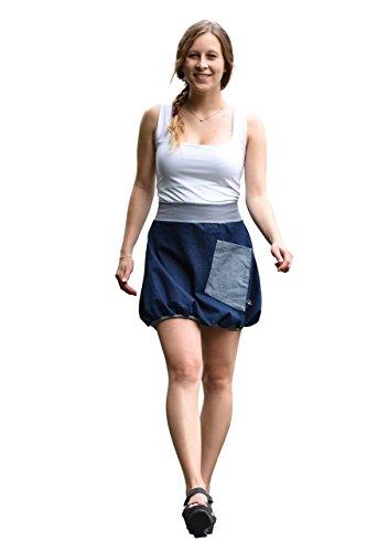 Minirock PAULIZ – blauer Damen Ballon-Minirock aus Jeans - 2
