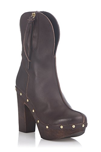 Laura Moretti Damen Swedish Nailed Boot Booties Braun