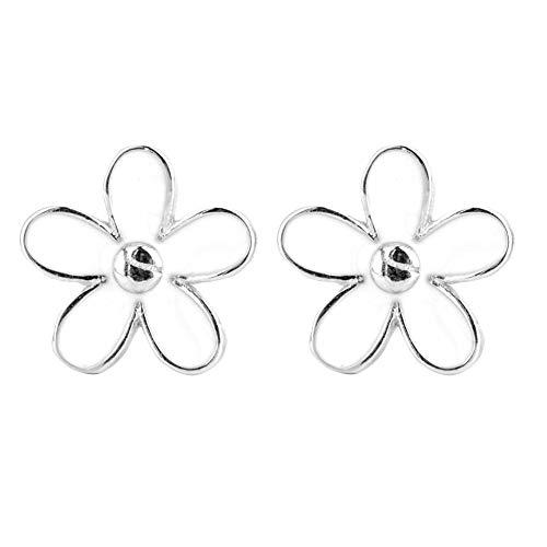 S925 Daisy Ohrringe, Sterling Silber Ohrringe Damen täglichen Zubehör Weiblichen Natürlichen Stil Niedliche Blume ()