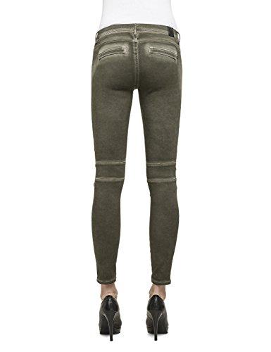 Replay Damen Skinny Jeanshose One OFF Grün (MILITARY GREEN 677)