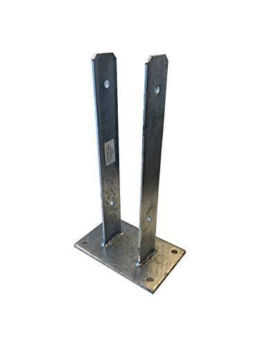 Pfostenträger zum Aufdübeln U91 x 400 x 6,0mm mit Schrauben