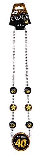 Forum Novelties X81654 Halskette, Schwarz/Gold (Fügen Sie Eine Gold Perlen-halskette)