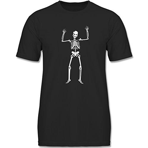 ett Skeleton - 152 (12-13 Jahre) - Schwarz - F140K - Jungen T-Shirt (Süße Vampir-outfits)