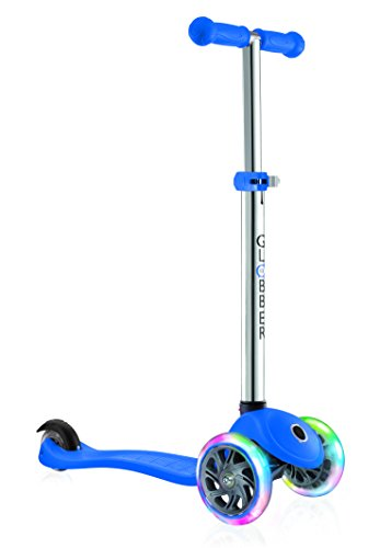 Globber Primo Infantil con luz Up Ruedas Scooter, Infantil, Primo with Light Up Wheels, Azul Marino, n/a