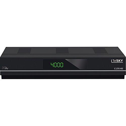 TelSKY 5310779 C 270 HD HDTV-Kabel Receiver (USB/PVR ready/HDMI/SCART/LAN) schwarz