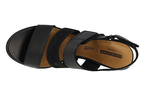 CLARKS Sandale 26133641 Kurtley Nacre Noir Noir
