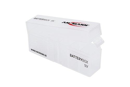 ANSMANN Batteriebox für 9V Block Akkus und Batterien - Praktische Akkubox zum Schutz & Transport für 6 Accus - Batterie Box & Akku Box zur Aufbewahrung