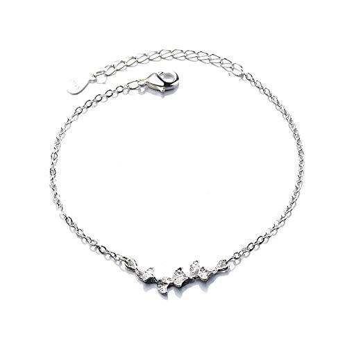 July Sunny Schmuck Damen Armband Ginkgo Biloba (Silber) Armbänder Geburtstage Hochzeitstag Geschenke für Frauen Mama