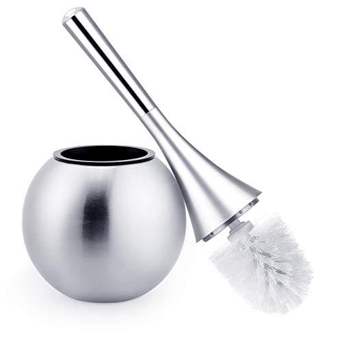 Agm elegante scopino, wc, pulizia bagno, scopino, wc scopino, scopino, scopino, portaspazzolino con supporto in acciaio inox e base in abs