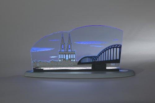 "LED Motivleuchte/Motivlampe\""Kölner Dom\"" grau, blau, weiß\""weigla\"""