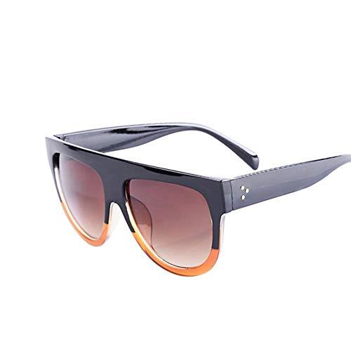 ZHOUYF Sonnenbrille Fahrerbrille Übergroße Quadratische Sonnenbrille Weibliche Modelle Farbverlauf Sommer Klassische Damen Sonnenbrille Weibliche Großzügige Brille Uv400, A