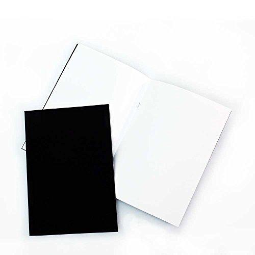 3er Pack (3 x A4, Matt Schwarz, Mit Starter Sketchbooks / Lithographie, Weiß,