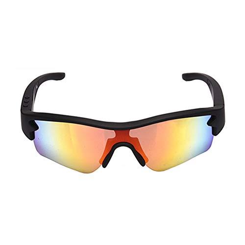 LFF SPORT Intelligente Brille Polarisierte Drahtlose Bluetooth Kopfhörer Sonnenbrille Musik Freisprech Sportbrillen für Bluetooth-Gerätetelefon + Gratis Austauschbare 3 Paar Objektiv,A