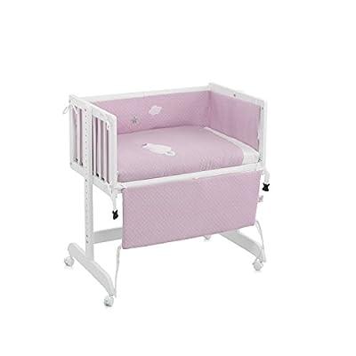 Funny Baby Codream - Minicuna, diseño Motitas, color rosa