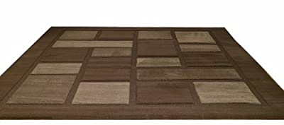Rugs With Flair 120 x 170 cm Visiona 4304, Soft Brown - inexpensive UK light shop.