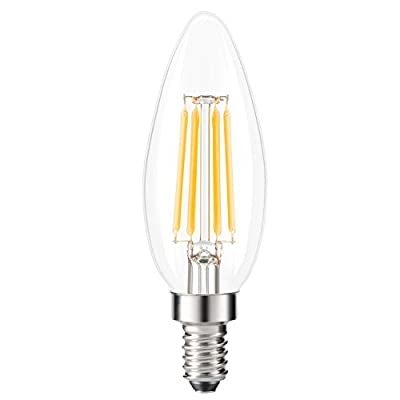 Kohree LED Fadenlampe 5 Stück Edison Glühbirne E14 Glühfaden Retrofit Classic, LED Birne als Kolbenlampe, Klar, Nicht Dimmbar, 40W Entspricht Glühlampe Kerzenbirnen, 440LM, Warmweiß 2700K