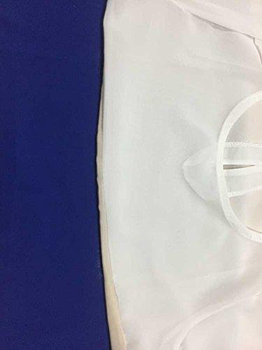 Minetom Femme Bande Tricolore Casual Droites Robes D'Été De Bureau En Mousseline De Soie Noir