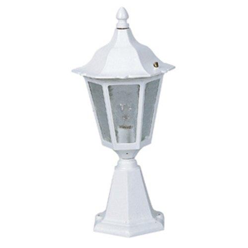 ALBERT 680541 Lumière extérieur sur socle 75W, E27, IP23 blanc