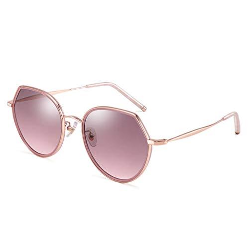 LIUXIN UV-Schutz Sonnenbrille Retro-Metall Sonnenbrille Sonnenbrille mit großem Rahmen optional Sonnenbrillen (Color : D)