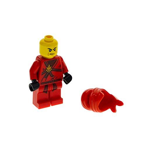 Preisvergleich Produktbild 1 x Lego System Figur Mann Ninjago Kai Torso rot mit Medaillon gold Kimono bedruckt Ninja Maske Tuch njo007