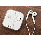 Magic Global Gadgets Lot de 100% marque de Apple Earpods écouteurs avec micro et télécommande pour iPhone 5/5S/5c/4/4S, iPod Touch, iPod Nano, iPad avec Sangle universelle (sans emballage avec Logo Apple en cristal uniquement)