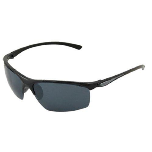 Unisex Schwarz halb Rand Brillen Rechteck Objektiv Sonnenbrillen
