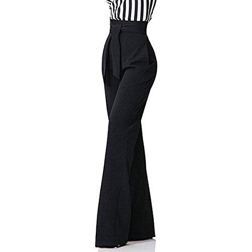 Pantalones Mujer Elegante Fiesta Moda Pantalones Anchos