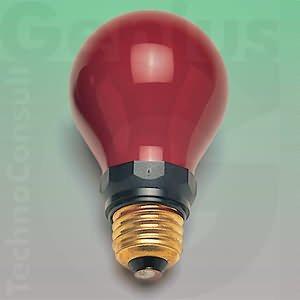 Dunkelkammer-Lampe, 15 W, E 27, rot
