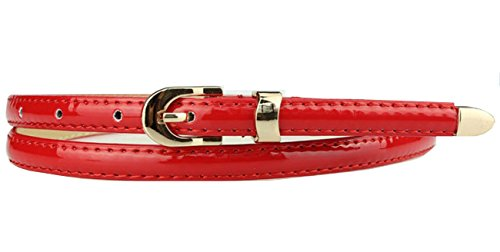 Sucre Belts Damen Gürtel mit Schnalle Gürtel Rot rot (Roten Kleid Kardashian Kim)