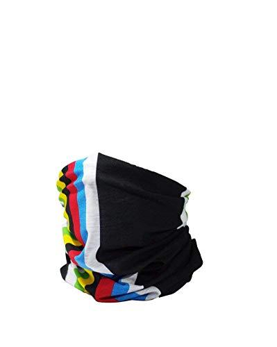 Ruffnek ciclismo mondo champion rainbow design copricapo multifunzione/scaldacollo per uomo, donna & bambini